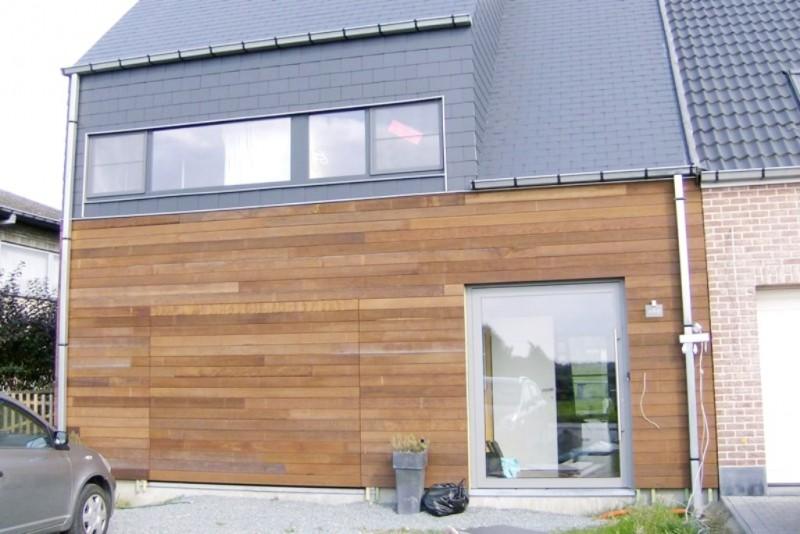 Sectionaalpoort met hout in gevelvlak