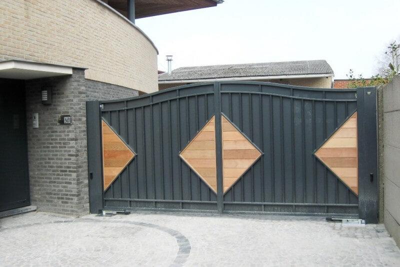 Vaco Secuga dubbel draaihek type HACKENSACK gesloten met hout