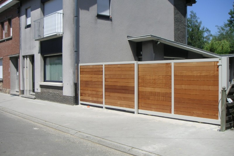 VACO SECUGA schuifhek en vast hek frame met hout horizontaal